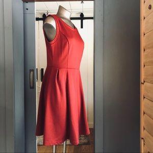 Mossimo Burnt Orange Sleeveless Knee Length Dress